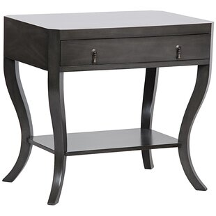 Noir Weldon End Table with Storage