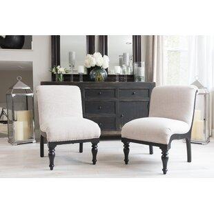 Gracie Oaks Pawan Slipper Chair (Set of 2)