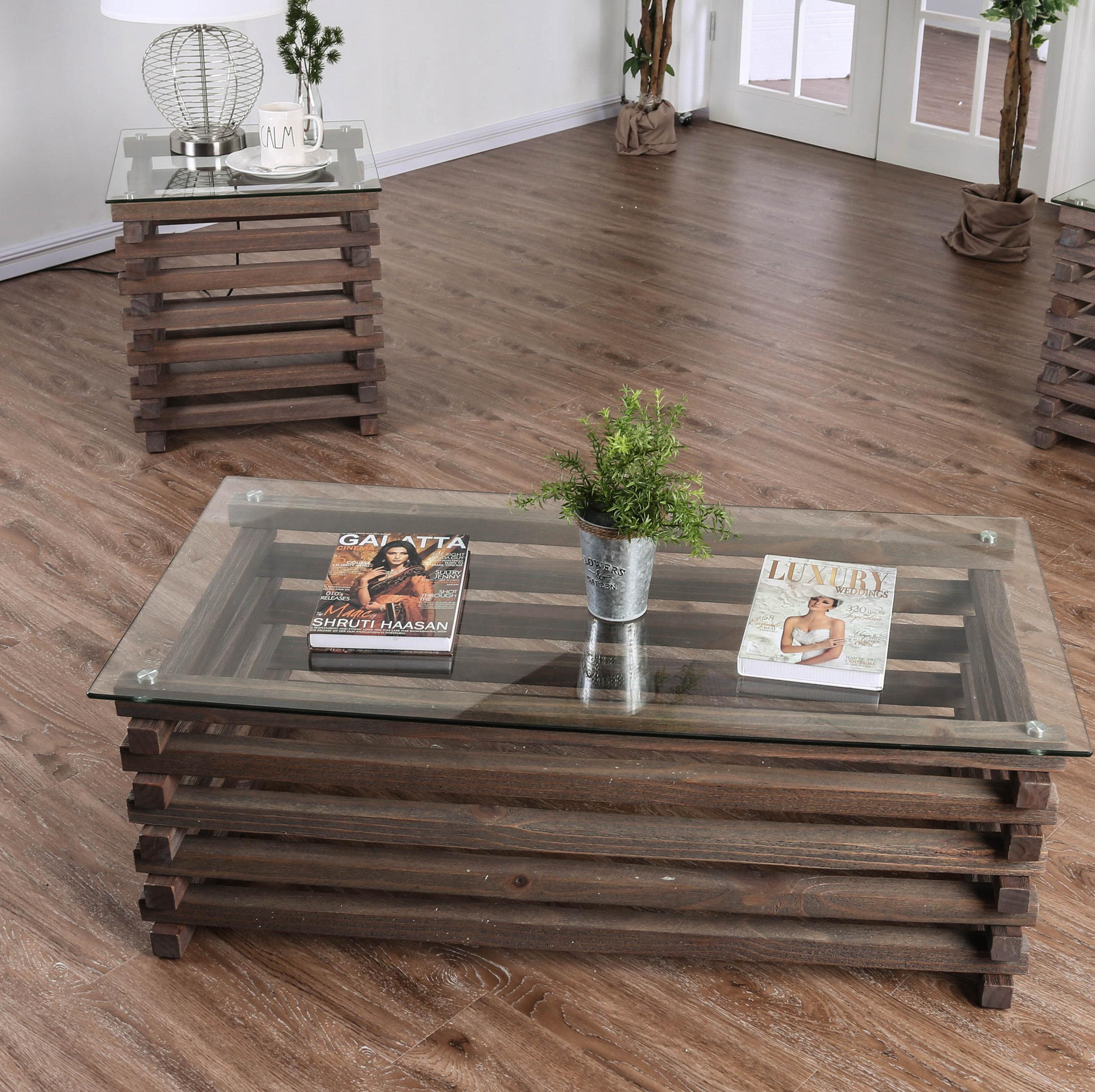 Farmhouse Coffee Table Sets 11