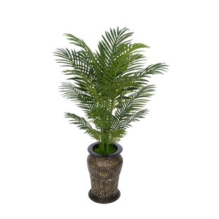 Lighted outdoor palm trees wayfair artificial floor areca palm tree in planter aloadofball Images