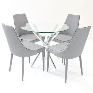 Broadmoor Circular Dining Set With 4 Chairs By Metro Lane