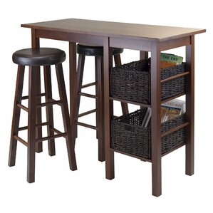 Egan 3 Piece Pub Table Set by Luxury Home