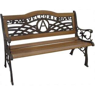 DC America Monogram Wood and Cast Iron Park Bench