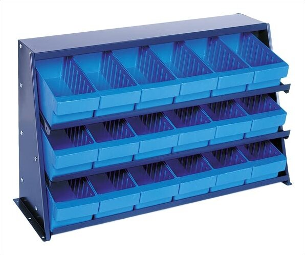 Quantum Bench Pick Rack Storage Systems With Various Euro Bins Wayfair
