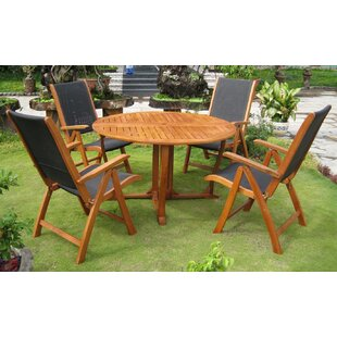 Breakwater Bay Sabbattus 5 Piece Dining Set