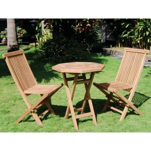 Bamboo54 Vineyard 3 Piece Teak Dining Set