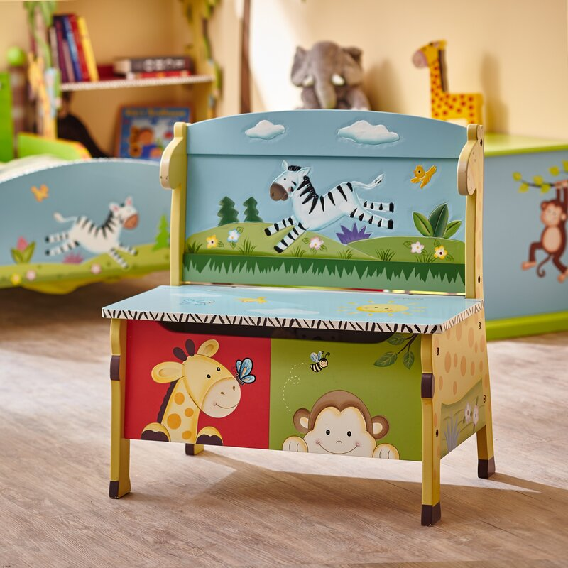 sunny safari kids storage bench - Kids Room Storage Bench
