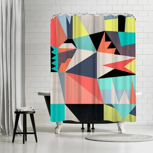 Susana Paz Graphic 3 Single Shower Curtain
