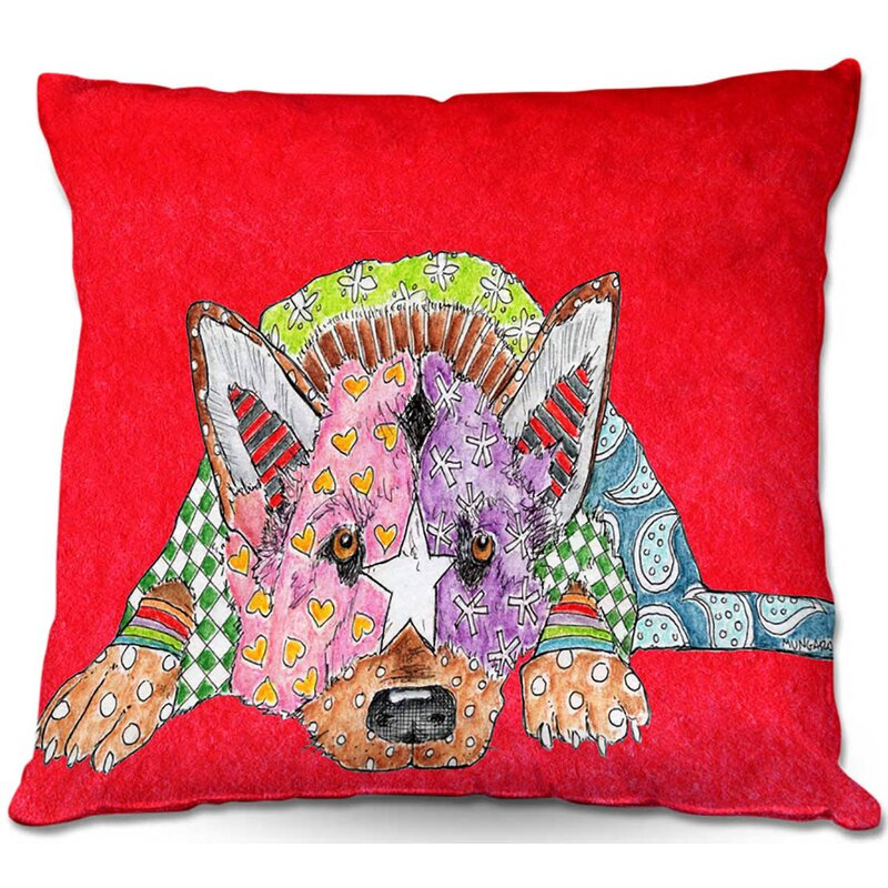 Ebern Designs Keeton Couch German Shepherd Dog Throw Pillow Wayfair