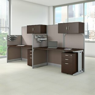 Bush Business Furniture 2 Person Cubicle Workstations 6 Piece Desk Office Suite