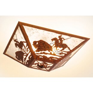 Steel Partners Buffalo Hunt 2-Light Flush Mount