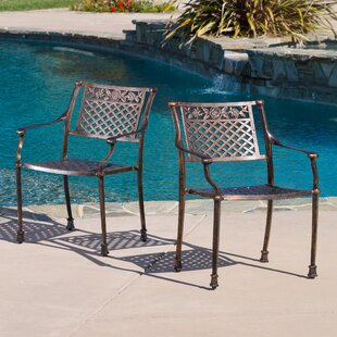 Tennille Stacking Patio Dining Chair (Set of 2)
