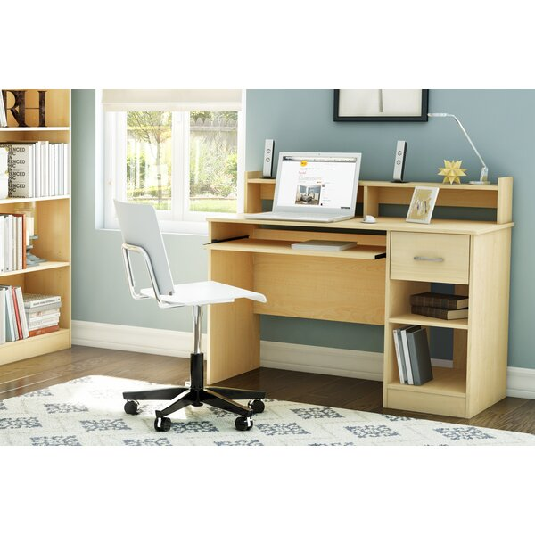 computer desk storage south shore axess 1 drawer computer desk with hutch u0026 reviews