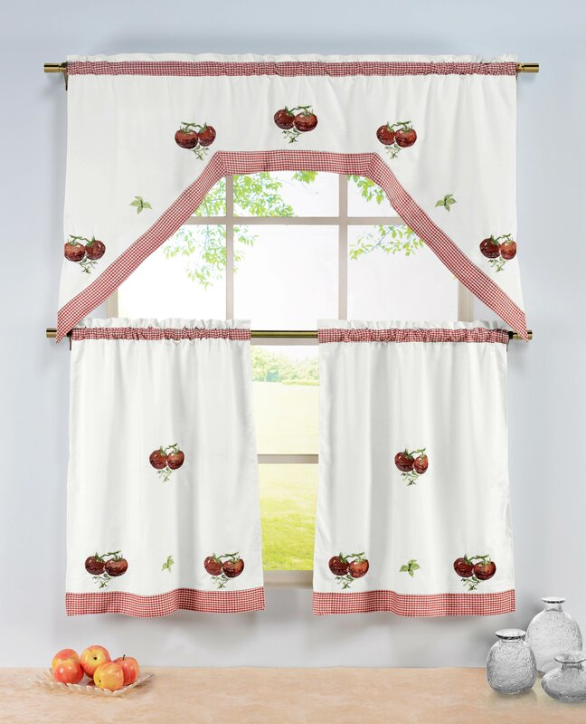 Tomatoes Embroidered Kitchen Tiers Set from Wayfair!