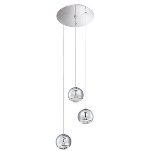 Hoeft 3-Light Cluster Pendant by Orren Ellis