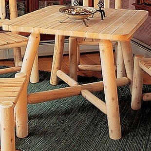 Solid Wood Dining Table by Rustic Natural Cedar Furniture Best Choices