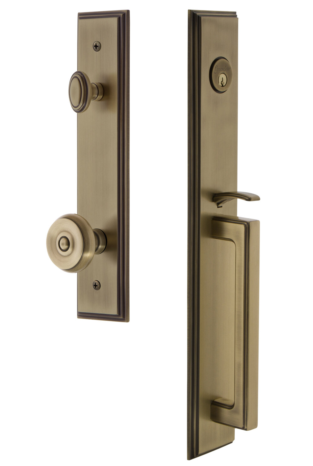 Grandeur Handleset With Deadbolt And Bouton Door Knob And Rosette Wayfair