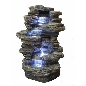 Resin Decorative Fengshui Waterfall Fountain with LED Light