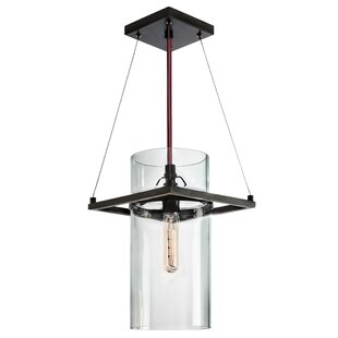 Wadhurst 1-Light Cylinder Pendant by Williston Forge