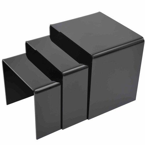 3-tlg. Satztisch-Set Cybil | Wohnzimmer > Tische > Satztische & Sets | Schwarz | Metro Lane