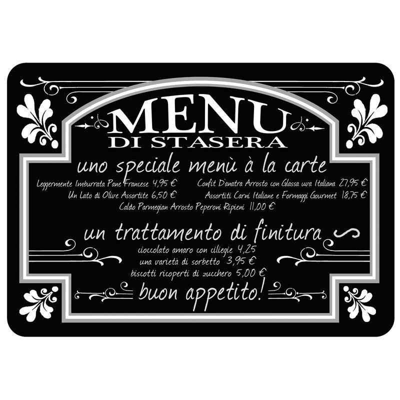 Red Barrel Studio Swofford Italian Bistro Menu Kitchen Mat Reviews Wayfair