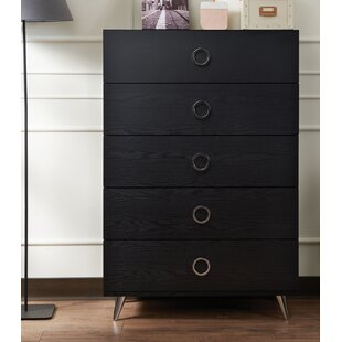 Lowall Contemporary 5 Drawer Chest