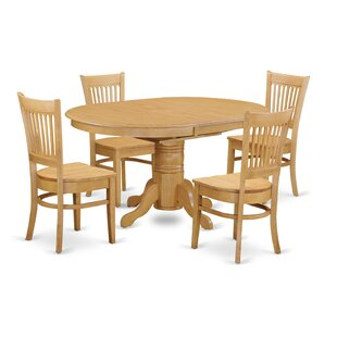 Spurling 5 Piece Dining Solid Wood Dining Set