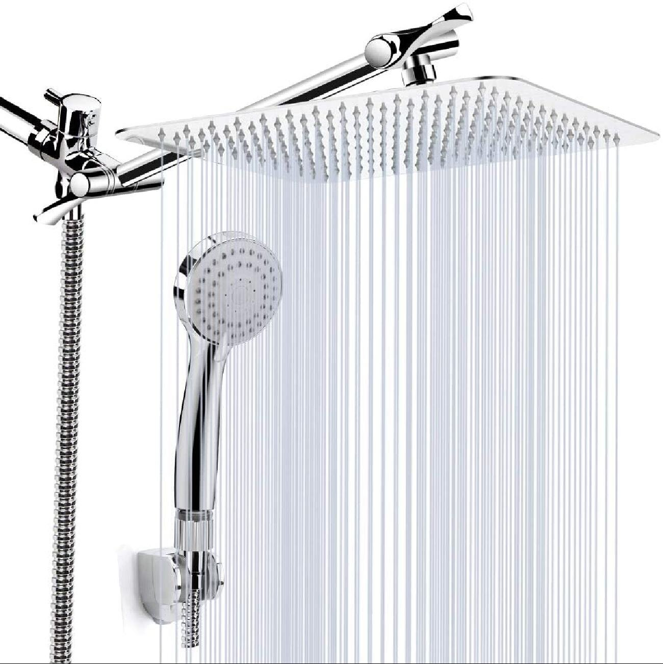 """Shower Head , 20'' High Pressure Rainfall Shower Head / Handheld Showerhead  Combo With 20"""" Extension Arm, Anti Leak Shower Head With Holder/ Hose, Flow  ..."""