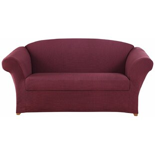 Honeycomb Box Cushion Loveseat Slipcover