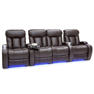Fresh Home Theater Row Seating (Row of 4 with Middle Loveseat) Latitude Run