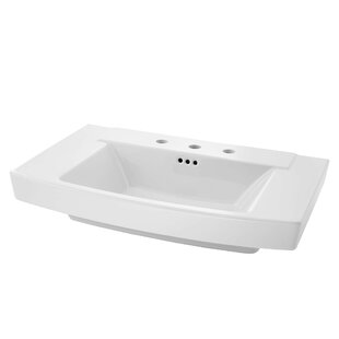 Read Reviews Townsend 35 Pedestal Bathroom Sink with Overflow By American Standard