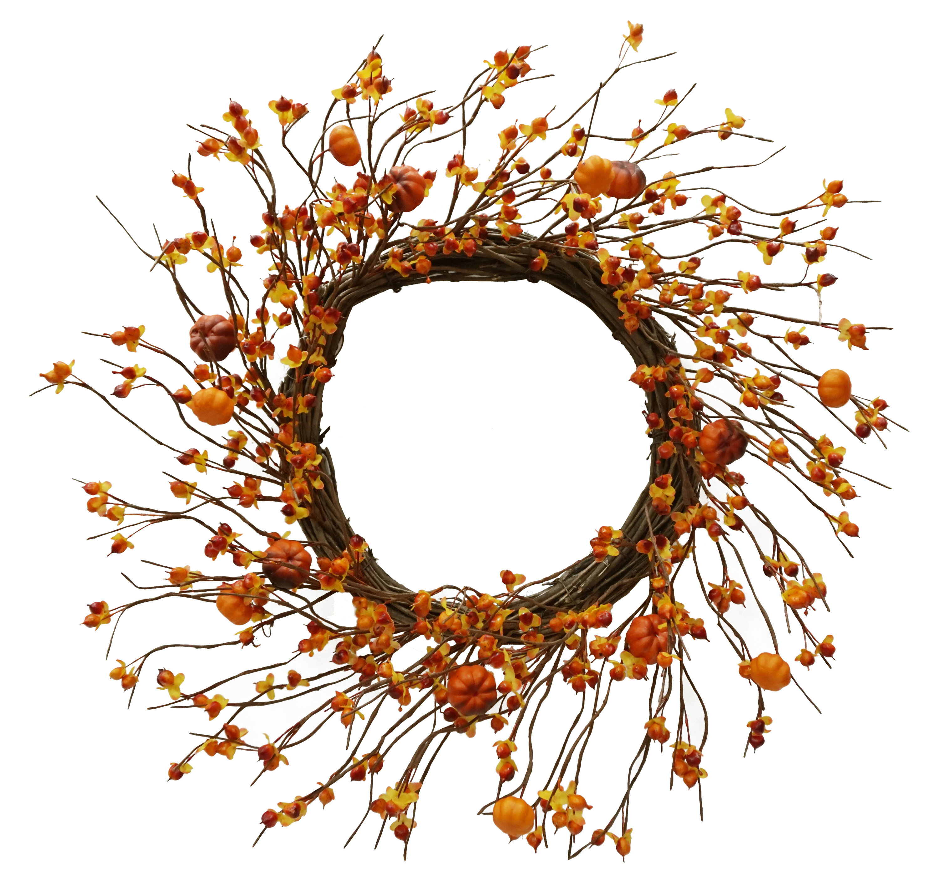 August Grove Bittersweet 22 Foam Wreath Wayfair