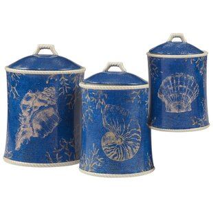 Seaside 3 Piece Kitchen Canister Set