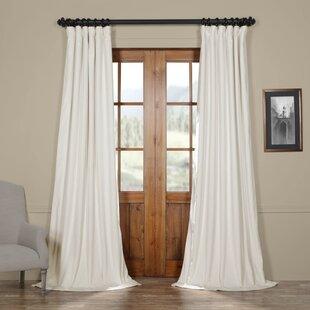 Albert Solid Velvet Blackout Thermal Rod Pocket Single Curtain Panel