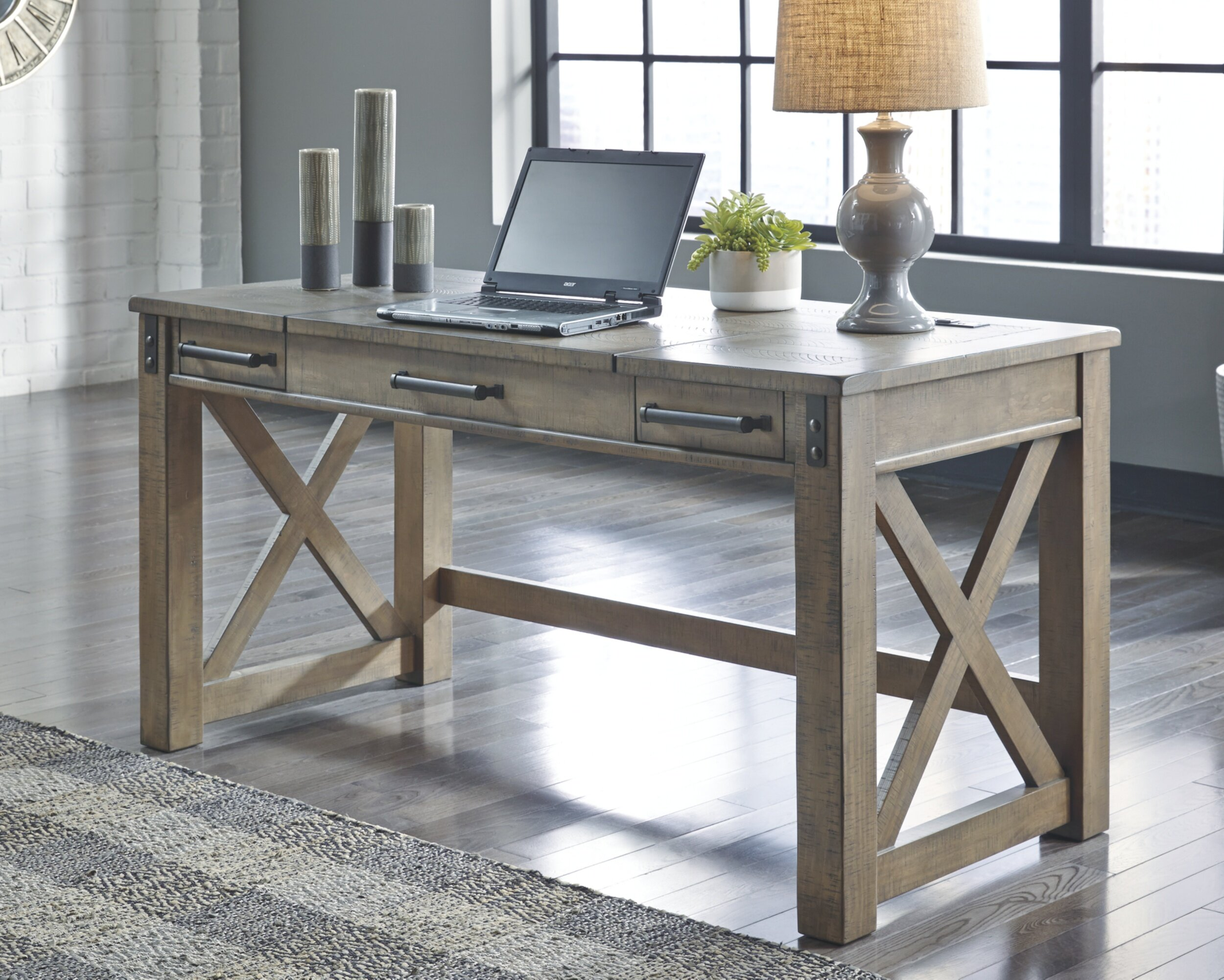 Image of: Laurel Foundry Modern Farmhouse Emiliano Casual Home Office Lift Top Desk Grey Reviews Wayfair Ca