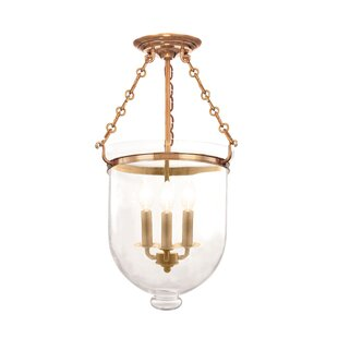 Hudson Valley Lighting Hampton 3-Light Semi-Flush Mount