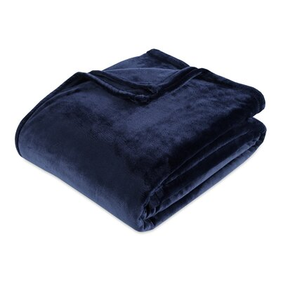 Berkshire Blanket VelvetLoft® Blanket Size: Twin, Color: Midnight Blue