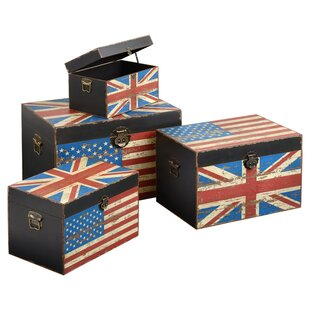 Anglo-American Storage Trunks 4 Piece Set By Symple Stuff
