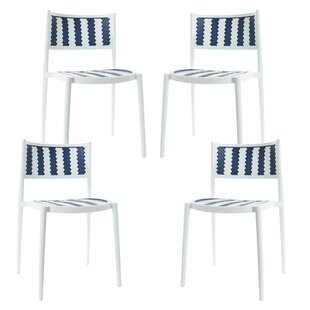 Figueiredo Stacking Patio Dining Chair (Set of 4) by Breakwater Bay