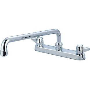 Central Brass Centerset Standard Double Handle Kitchen Faucet