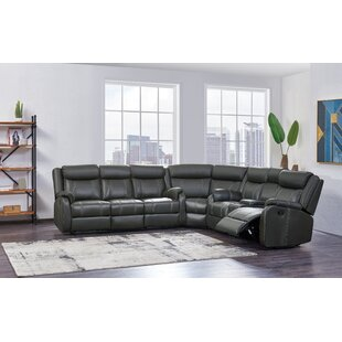 Shop Dunson Reclining Sectional by Red Barrel Studio