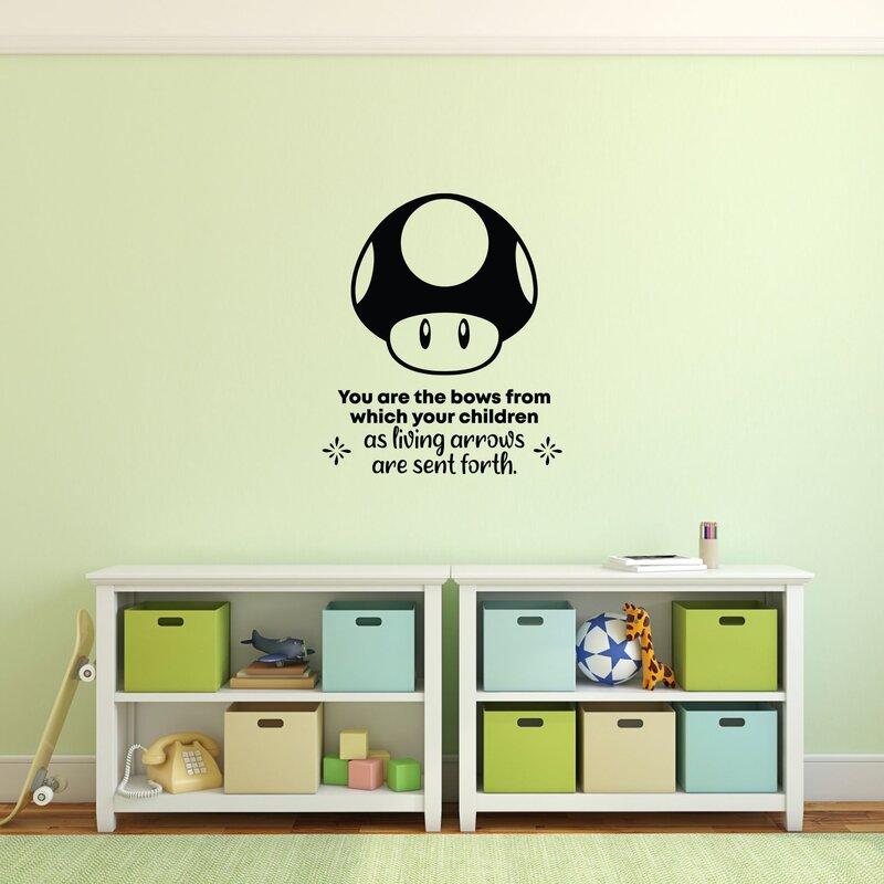 Super Mario Life Quote Cartoon Quotes Wall Sticker Decal Room Home Decor Vinyl Ebay