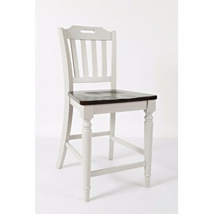 Alcott Hill Hickerson Slatback Counter Height Solid Wood Dining Chair (Set of 4)