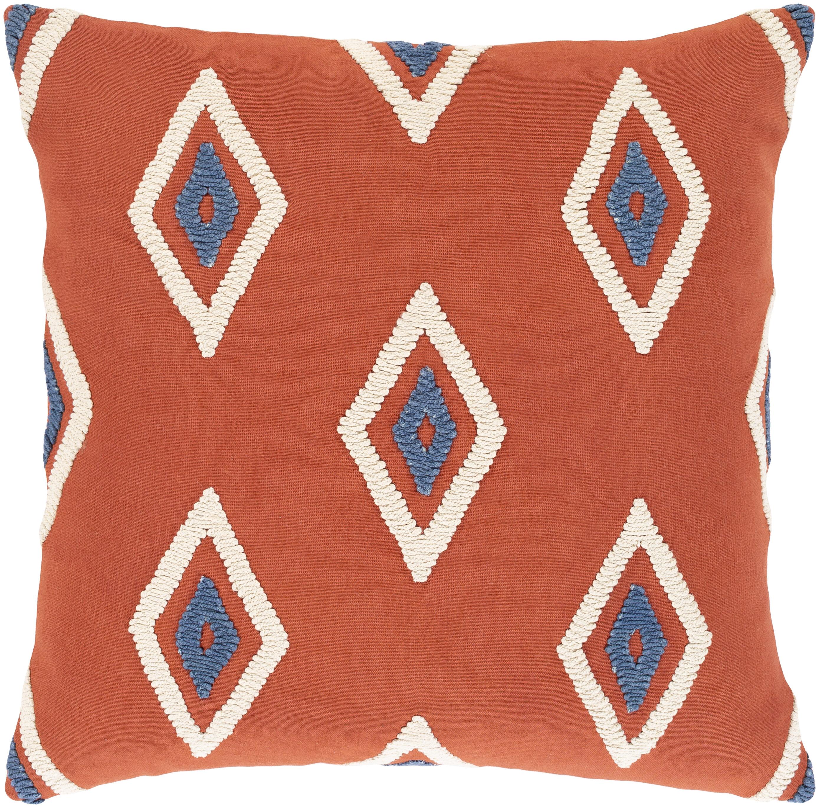 Seigler Cotton Geometric Throw Pillow