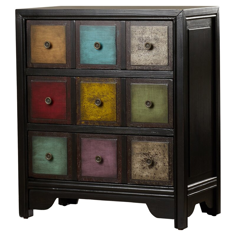Kratzer 3 Drawer Apothecary Accent Chest by Bungalow Rose