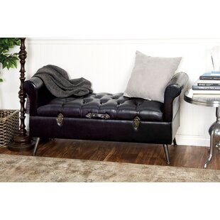 Shop for Wood and Leather Storage Bench ByCole & Grey