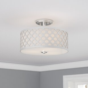 Willa Arlo Interiors Maynard 3-Light LED Semi Flush Mount