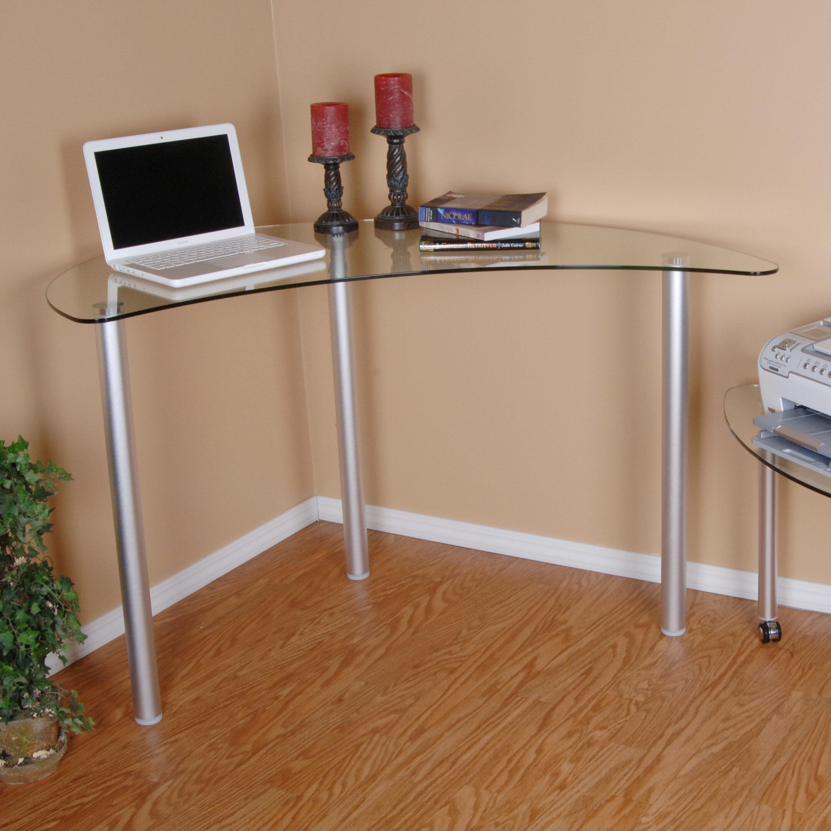 Boylan Glass Corner Desk