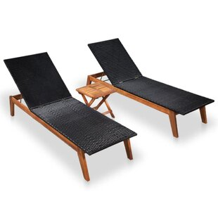 Bakken Sun Lounger Set With Table By Sol 72 Outdoor