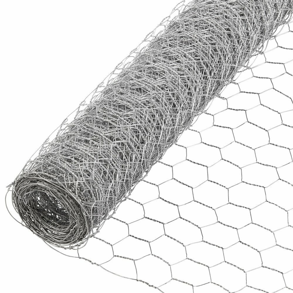 "Chicken Wire Fence 4/' x 150/' PVC Coated UV 1/"" Hex Poultry Aviary Bird Fencing"